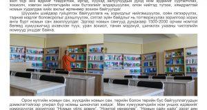 Хорих ангиудын номын сан дунджаар 1500-2000 номтой