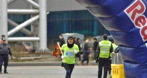 """""""Улаанбаатар марафон-2019"""" олон улсын гүйлтийн тэмцээнд МУГТ Б.Цэвээндаш амжилттай оролцлоо"""